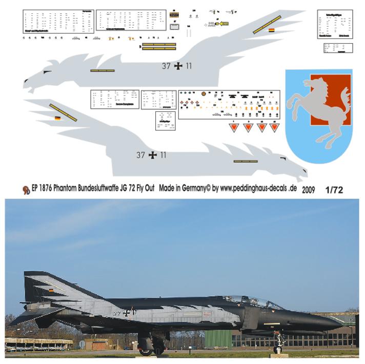 1//72 Decals für Phantom F-4F Flyout Jabo 35  2159
